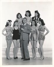 RED SKELTON Leggy Starlets CANDID Vintage 1942 SHIP AHOY CLARENCE BULL MGM Photo