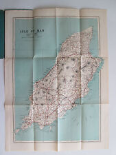 Isle of Man Motoring and Cycling Road Map by G.W. Bacon's vtg England UK Island