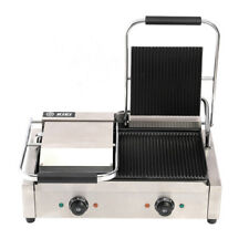 More details for 220v commercial sandwich press grill 3600w electric panini maker hamburger steak
