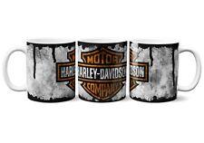 Harley Davidson Motorcycle Distressed Look Mug And Coaster Gift Set