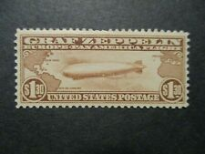 1930 $1.30 Graf Zeppelin brown S#C14 MPH regum? F-VF couple perfs top issue