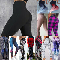 Women High Waist Yoga Leggings Fitness Running Sports Stretch Gym Pants Trousers