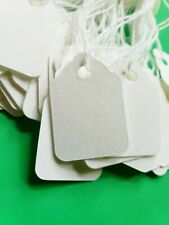Blank White Price Tags Large Small Hang String Strung Jewelry Merchandise