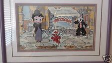 Betty Boop & Koko Max's Cafe Signed Richard Fleischer Limited Edition Cel Rare