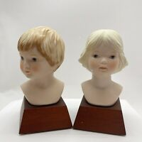 Vintage Frances Hook Bust Youth Boy & Spring Breeze Girl Very Good condition
