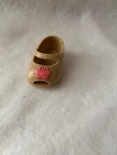 Fisher Price Little Mommy Doll Shoes Tan Pink Butterfly Left Foot Replacement