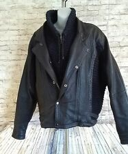 men's vintage geno carelli leather jacket from paris italy Size M