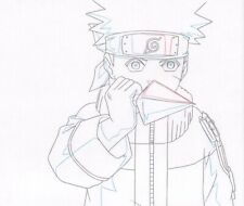 Naruto Shippuden Anime Production Douga Drawing for Cel Uzumaki w/ Kunai Pierrot