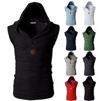 Mens Fashion Hooded T-shirt Casual Hoodie Hooded Shirts Short Sleeve Tops