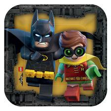 Lego Batman fiesta Cumpleaños gama - vajilla globos & Decoración Amscan 8 X platos de papel 18 cm