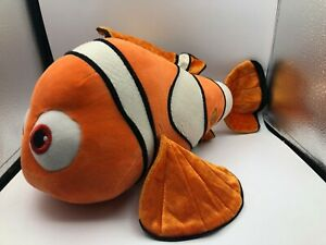 Authentic Stamped Disney Store Finding Nemo Clown Fish Plush Stuffed Toy Animal