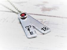 18th Birthstone Necklace, Milestone, Birthday necklace, 18 years jewellery