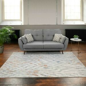 Grey Silver Zebra Print Rugs Large Small Animal Theme Copper Blue Modern Runners