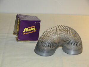 Vintage Original Metal Slinky Toy by James Industries No 100 w/Box