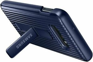 Original Samsung Galaxy S10+ Plus Protective Standing Cover Dunkelblau NEU & OVP