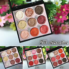 9 Colors Women Shimmer Matte Eyeshadow Palette Set Makeup Cosmetic Eye Shadow