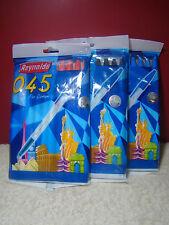 30 Pen Reynolds 045 Fine Carbure Ballpoint Pen 10 Red+10 Blue+10 Black Free Ship