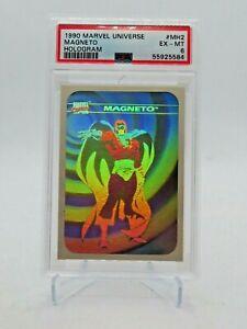 1990 Impel Marvel Universe Series 1 Hologram Magneto #MH2 EX - MT PSA 6