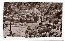Early LONDON  Trafalgar Square  Aerial View Photo Postcard B