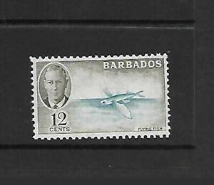 BARBADOS, KGV 1950 DEFINS, 12c FLYING FISH, SG 277, MNH