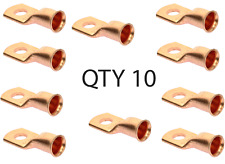 (10) - 1/0 gauge 1/0 AWG x 5/16 inch copper lug battery cable terminal connector
