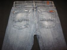 7 For all Mankind Men Bootcut Jeans Sz 31 x 26 w Stretch Distressed Wash