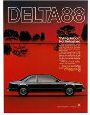 1986 Oldsmobile DELTA 88 Black 2-door Coupe VTG PRINT AD