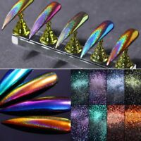 Holographic Mirror Effect Nail Art Glitter Powder Chrome Pigments Dust