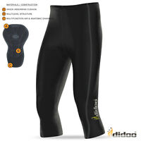Mens New 3/4 Cycling Pant Coolmax® padding cycle short Didoo Tights Bike Legging