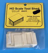 NuComp Miniatures H210 HO Scale Tool Shed Kit 87210 NEW SEALED RARE