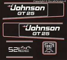 Adesivi motore marino fuoribordo Johnson GT 521 25 cv  gommone barca