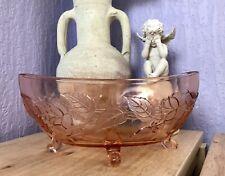 Antik Jardiniere Rosalin Rosa Art Déco Schale Pressglas Glasschale Glas