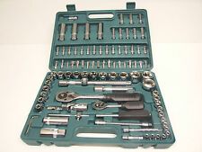 "94 Piece Socket Set Using 1/4"" and 1/2"" Drives and Extensions"