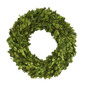 Preserved Boxwood Round Wreath - 14 inches and NEW!