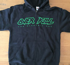 OVERKILL The Electric Age Zip Sweat Shirt Size S -New- Official merchandising