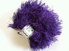 EYELASH YARN - PURPLE #22776 Ice Royal Purple Fun Fur 50gr