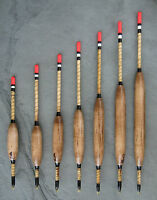 Handmade fishing floats. Balsa wagglers 3BB to 3SSG - singles or set. (BLDuck)