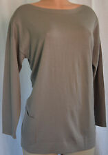 BALENCIAGA KNITS WOOL/SILK MOSS COLOR FRONT PACKETS TOP SIZE  44