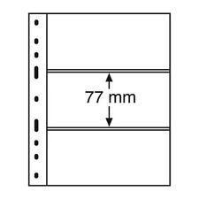 Recharges noires Optima à 3 bandes pour carnets, petits blocs.