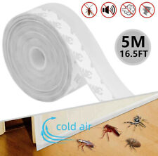5M/16FT Weather Stripping Door Seal Strip Self Adhesive Silicone Bottom Stopper
