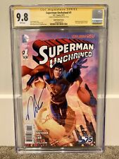 Superman Unchained #1 CGC 9.8 SS - Booth Variant Cover!