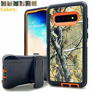 For Samsung Galaxy S10 S10e 10 Plus Defender Camo Hard Case Clip Fits Otterbox