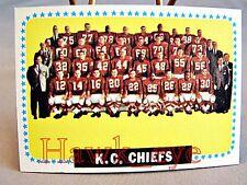 1964 Topps #110 Kansas City Chiefs Team Card