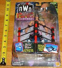 1999 WCW NWO Toy Biz Bret Hitman Hart Wrestling figure MOC Ring Fighters series