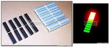 20 pcs LM3914 Driver + 20 pcs Bi-Color Fixed LED Bargraph for Audio VU Meter USA