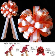 "Orange White Wedding 8"" P 00004000 Ull Bows Pew Bridal Shower"