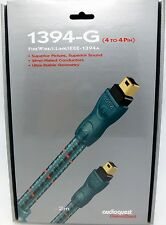 Audioquest 1394-G 4 to 4 Pin 2 meter FireWire i.Link IEEE-1394 cable Braided
