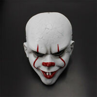 Halloween Movie Stephen King's IT Clown Pennywise Cosplay Party Resin Mask Props