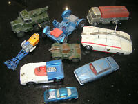 VINTAGE DINKY & CORGI TOY CARS JOB LOT OF 9 DIECAST VEHICLES McLAREN ARMY LORRY