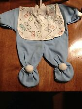 "Baby Doll outfit Outfit w/ attached bib   Size 14-16""Made in USA by Doll Dreams"